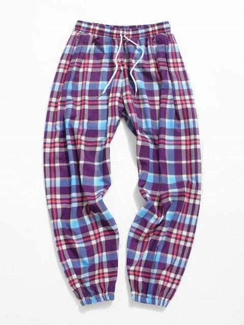Plaid Allover Print Casual Pants