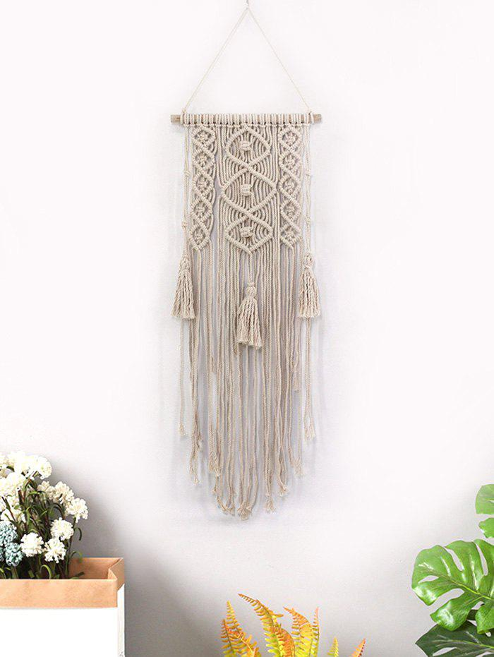 Fringed Decoration Macrame Wall Hanging - multicolor A