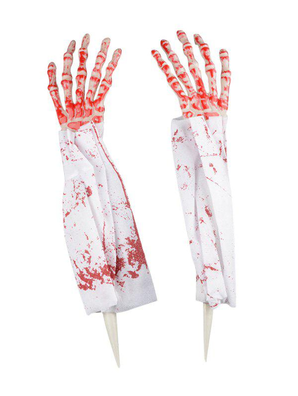 Halloween Supplies Party Cosplay Scary Skeleton Hands - multicolor A