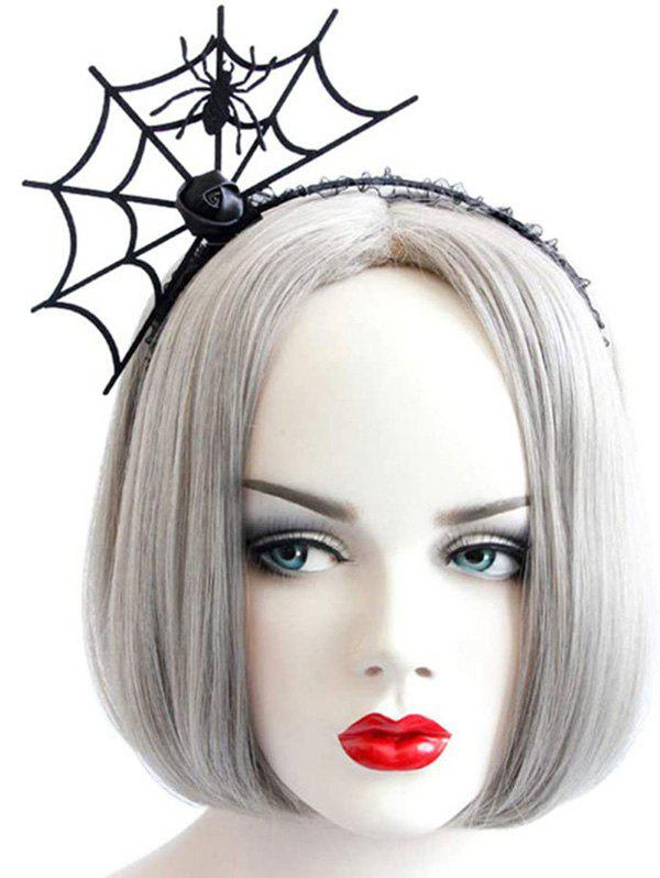 Halloween Party Cosplay Spider Web Shape Hair Band - BLACK