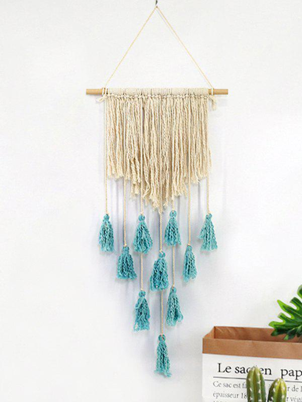 Tasseled Macrame Wall Hanging - multicolor A