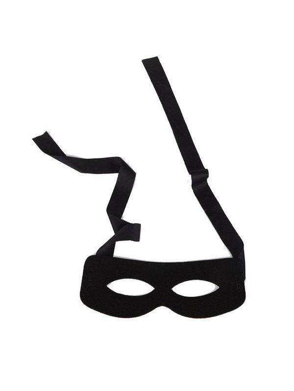 Halloween Supplies Party Cosplay Eye Face Mask - BLACK