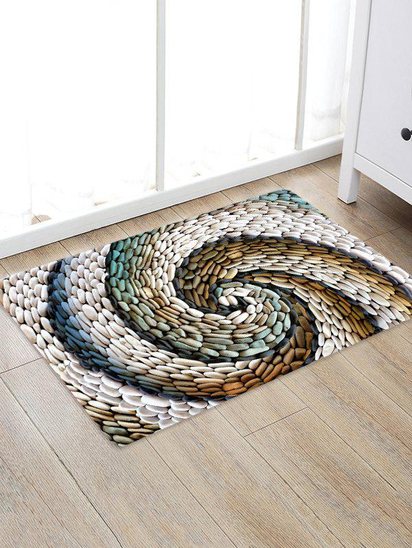 Spiral Stone Board Pattern Water Absorption Area Rug - multicolor W16 X L24 INCH