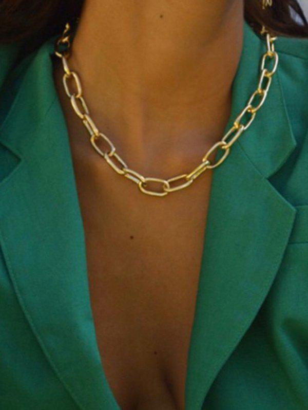 Chunky Chain Collarbone Necklace - GOLDEN