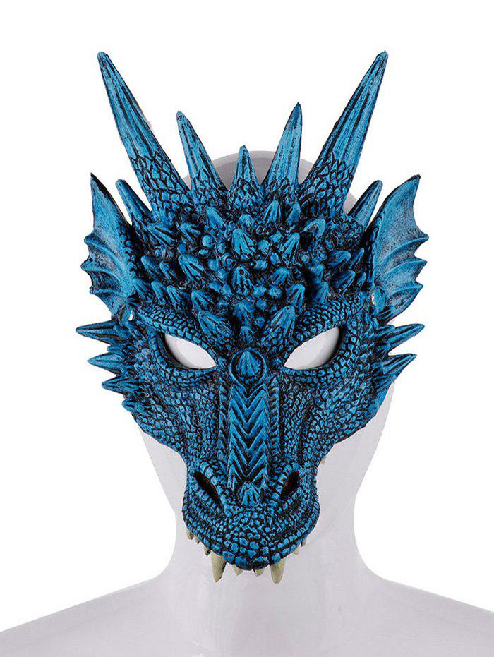 Halloween Party Cosplay Accessories Dragon Shape Animal Mask - BLUE