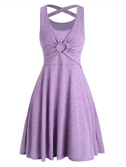 Crisscross O Ring Heather Sleeveless Dress