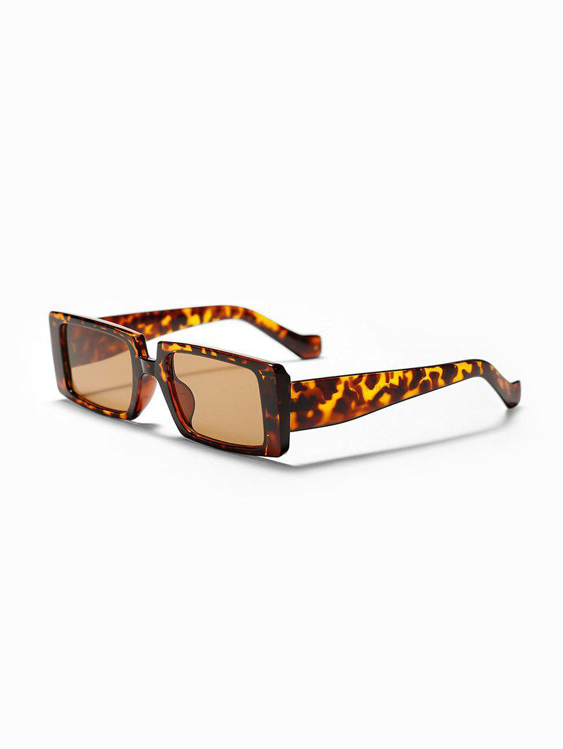 Retro Full Frame Square Unisex Sunglasses - LEOPARD