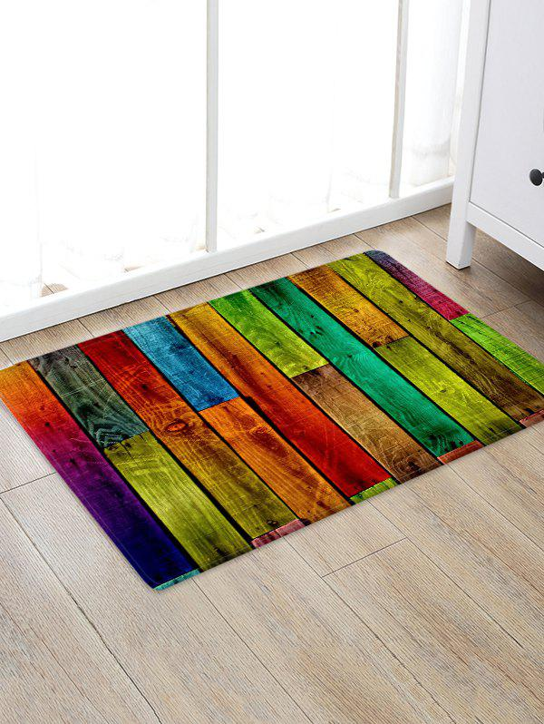 Wood Board Pattern Home Decor Rug - multicolor W16 X L24 INCH