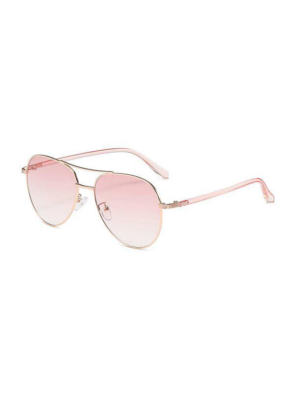 Personality Omber Color Pilots Sunglasses - PIG PINK