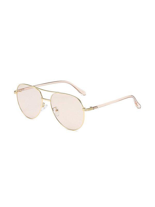 Personality Omber Color Pilots Sunglasses - LIGHT COFFEE