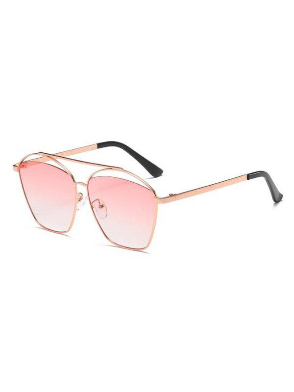 Punk Funny Gradient Lens Sunglasses - LIGHT PINK