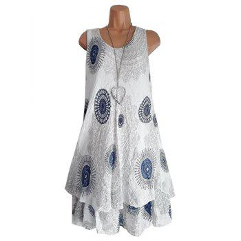 Printed Layered Trapeze Dress