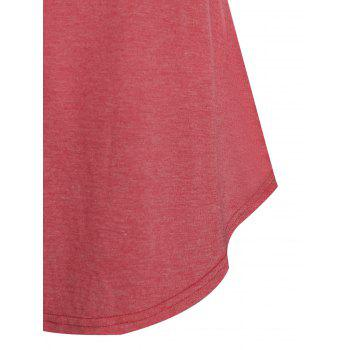 Long Sleeve Mock Button Ruched T-shirt