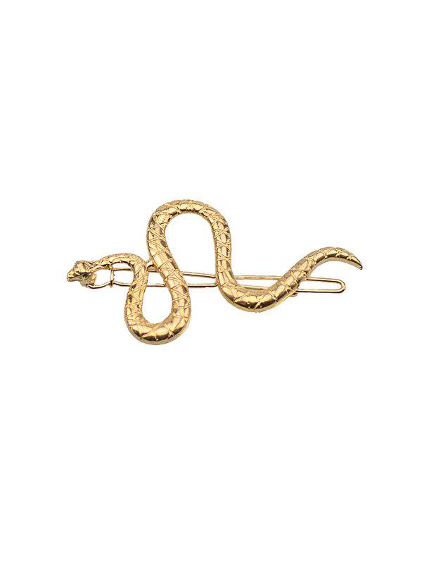 Carved Snake Shape Alloy Hair Clip - GOLDEN