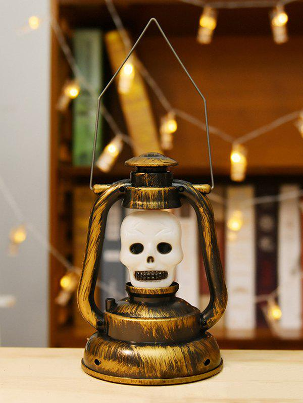 Halloween Decorative Desk Skull Lantern - multicolor B