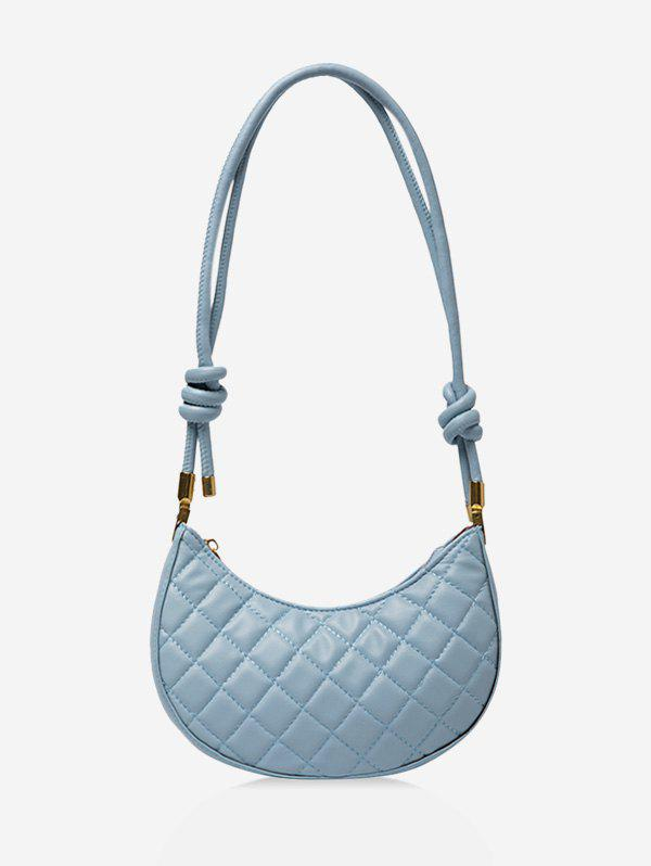 Casual Knot PU Quilted Shoulder Bag - LIGHT BLUE