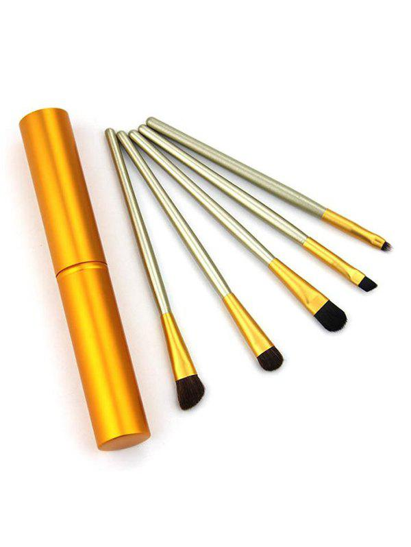 5Pcs Makeup Tool Eye Brushes Set - GOLDEN