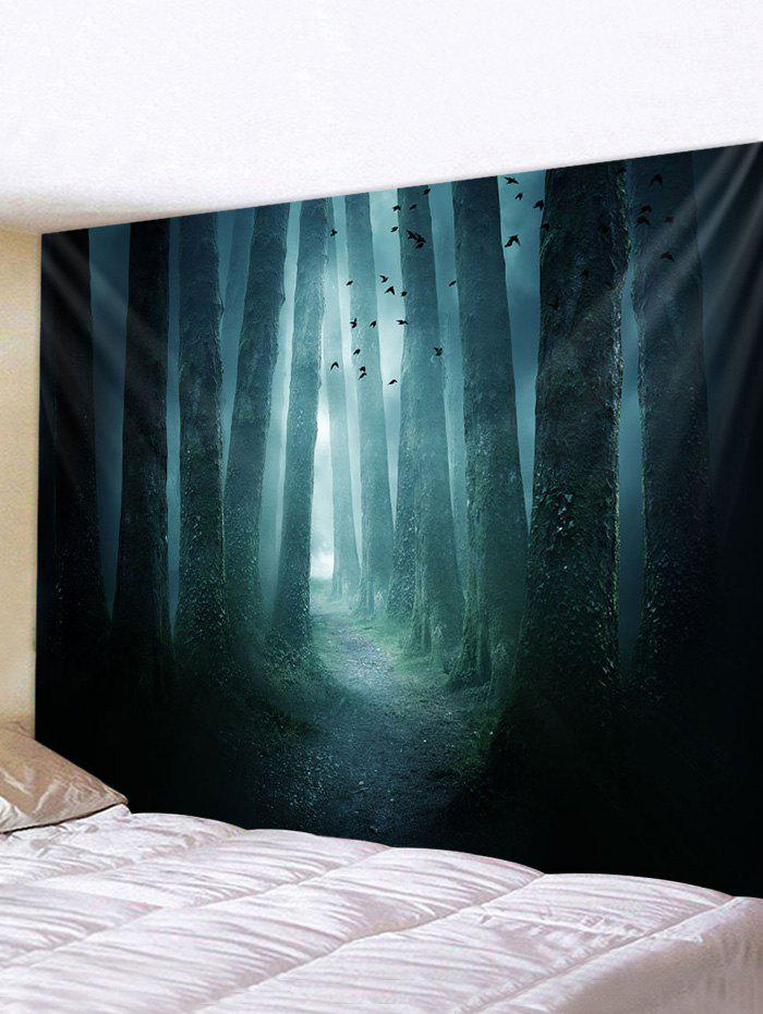 Halloween Dark Forest Print Wall Tapestry - multicolor W91 X L71 INCH