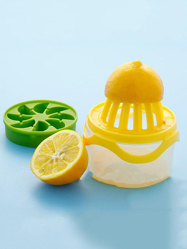 Manual Lemon Juicer with Cup - multicolor A