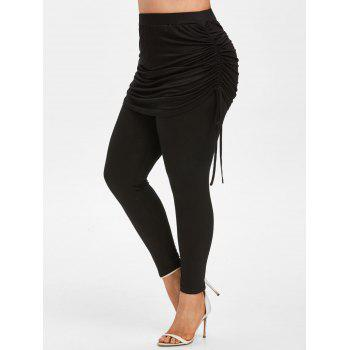 Plus Size Cinched Skirted Pants