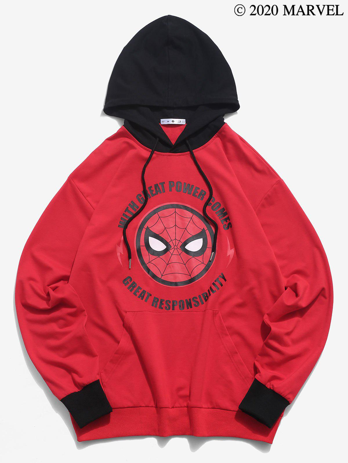 Marvel Spider-Man Letter Graphic Hoodie - multicolor 2XL