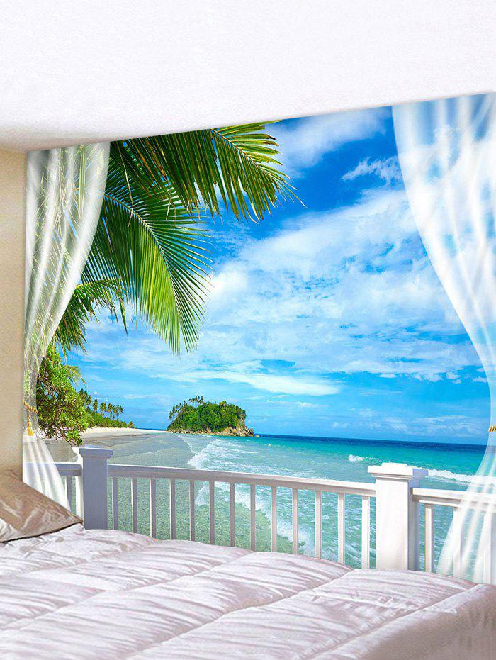 3D Printing Beach Handrail Waterproof Tapestry - multicolor W91 X L71 INCH