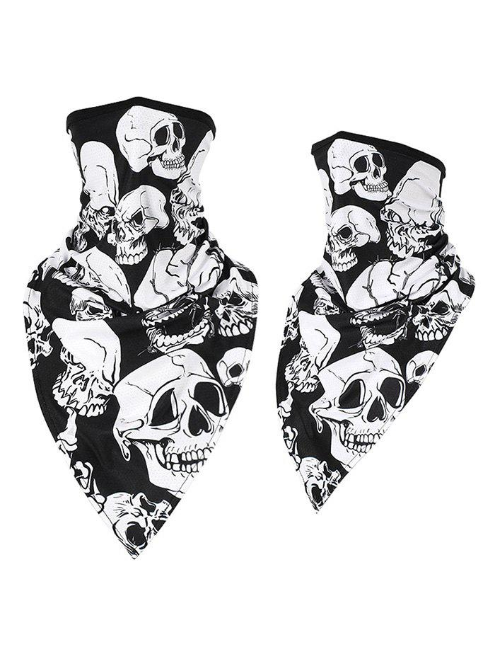Quick-drying Skull Print Cycling Scarf Mask - multicolor F