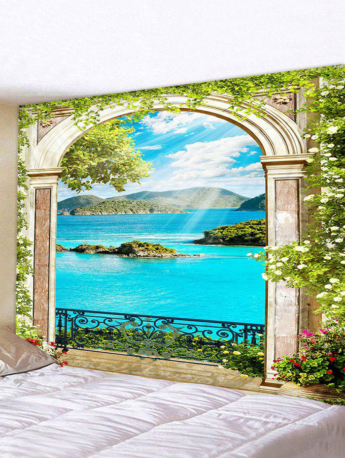 3D Digital Printing Landscape Wall Tapestry - multicolor W91 X L71 INCH