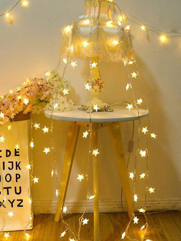 Star Shape Bedroom Hanging Waterproof String Lights - multicolor A