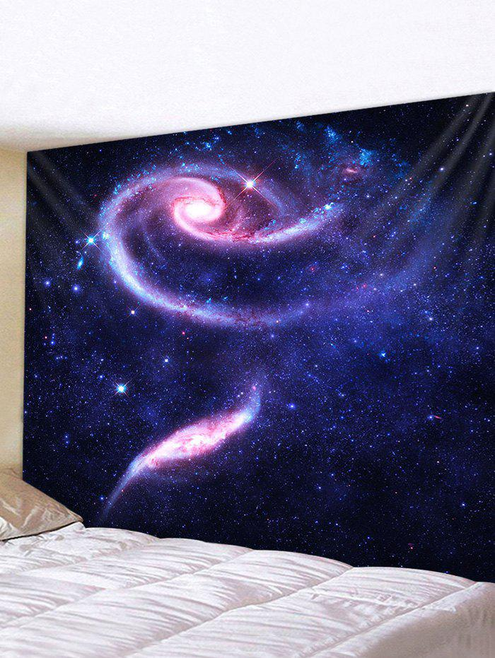 Universe Galaxy Vortex Print Tapestry Wall Hanging Art Decoration - multicolor W91 X L71 INCH