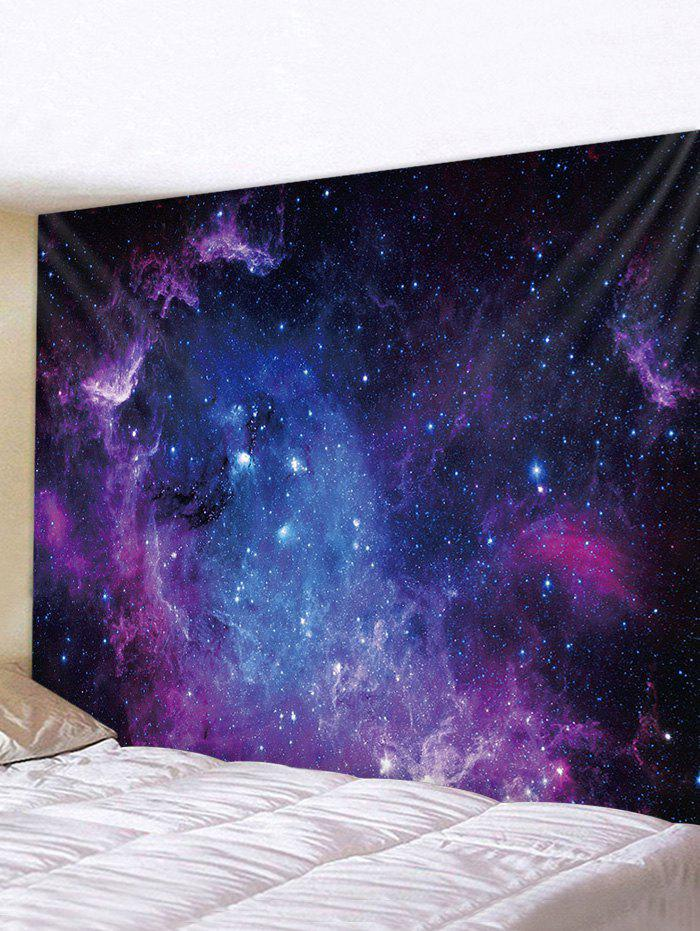 Universe Galaxy Print Tapestry Wall Hanging Art Decoration - multicolor W91 X L71 INCH