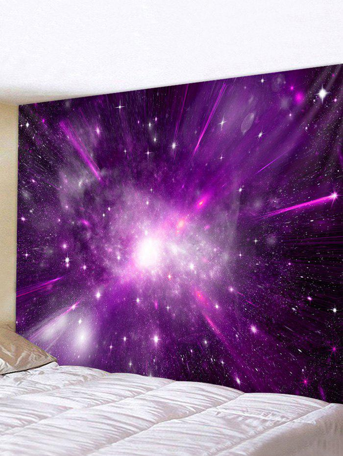 Galaxy Printed Tapestry Wall Hanging Decor - multicolor W91 X L71 INCH