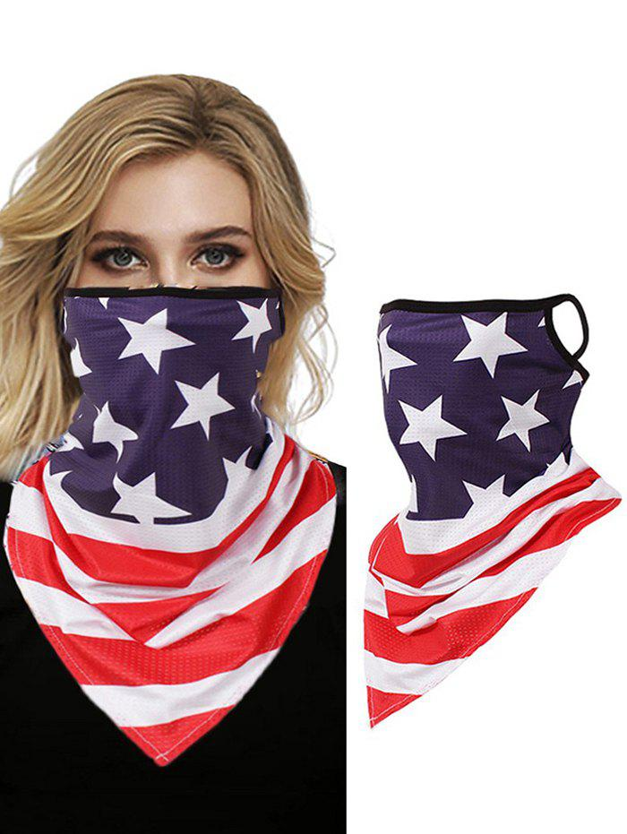 Flag Print Outdoor Windproof Mask Scarf - RED