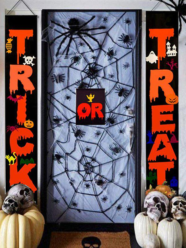 Halloween Digital Print Wall Hanging Curtain Couplet - multicolor
