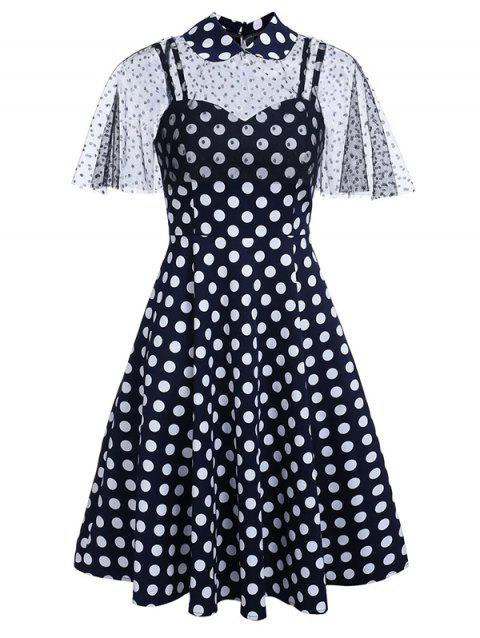 Polka Dot Sweetheart Capelet Dress
