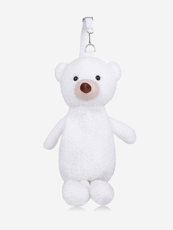 Cute Plushy Bear Doll Sling Bag - WHITE