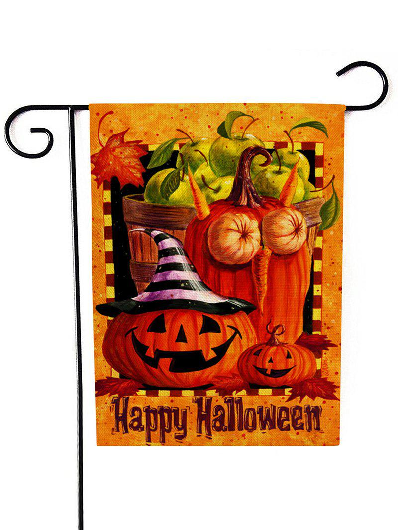 Halloween Double-sided Print Linen Garden Lawn Flag - multicolor B