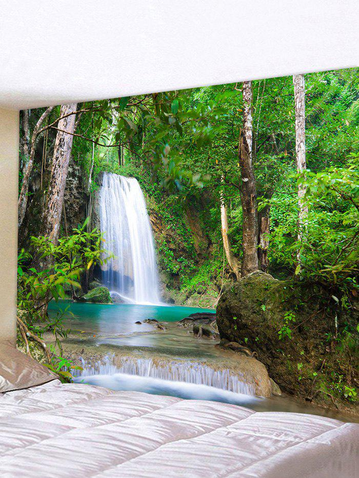 3D Digital Printing Waterfall Waterproof Tapestry - multicolor W59 X L51 INCH