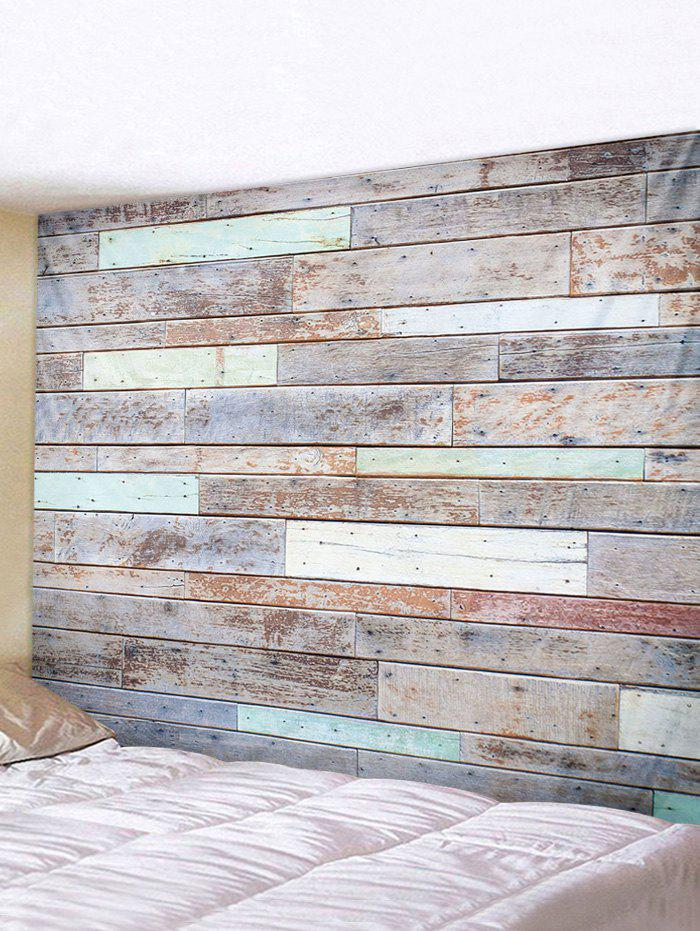 3D Digital Printing Wood Plank Waterproof Tapestry - multicolor W59 X L51 INCH