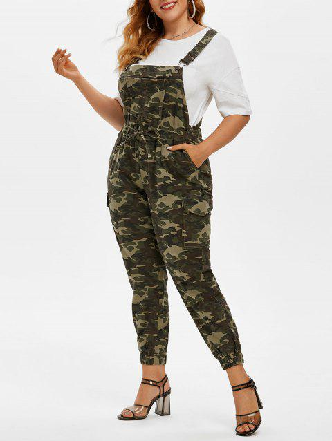 Plus Size Camouflage Print Overall Jumpsuit