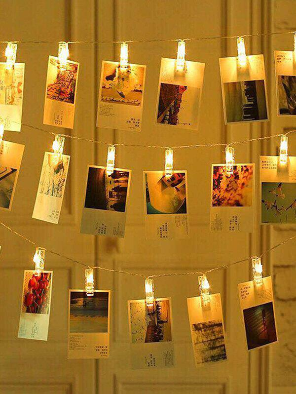 Photo Clip LED Wall Decorative Hanging String Lights - YELLOW