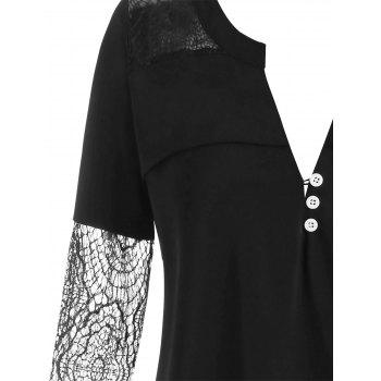 Plus Size Halloween Lace Insert Top