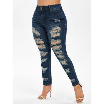Plus Size Ripped Destroyed Jeans