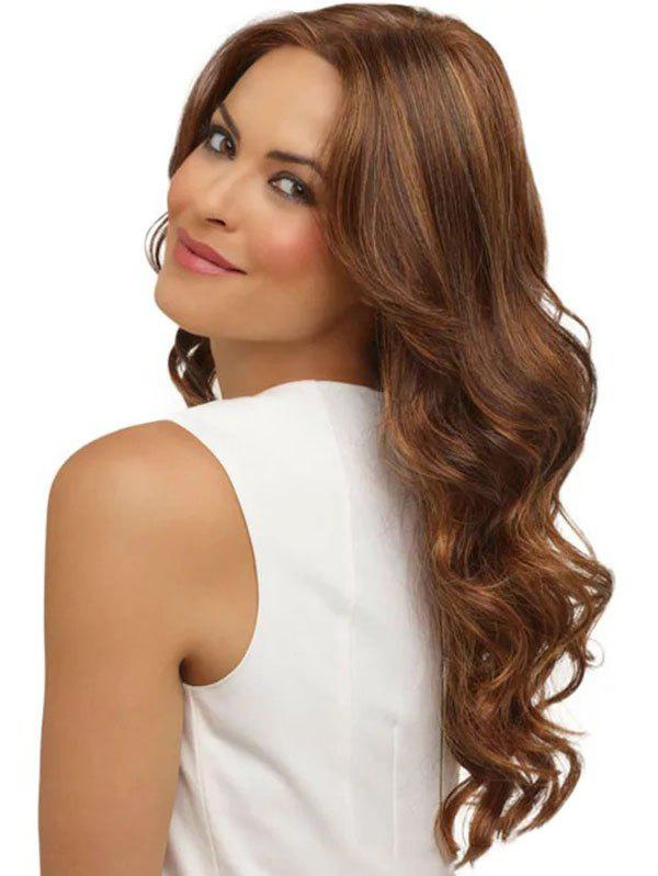 Body Wave Middle Part Long Synthetic Wig - LIGHT BROWN