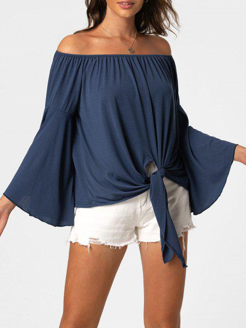 Knot Off The Shoulder Bell Sleeve Top