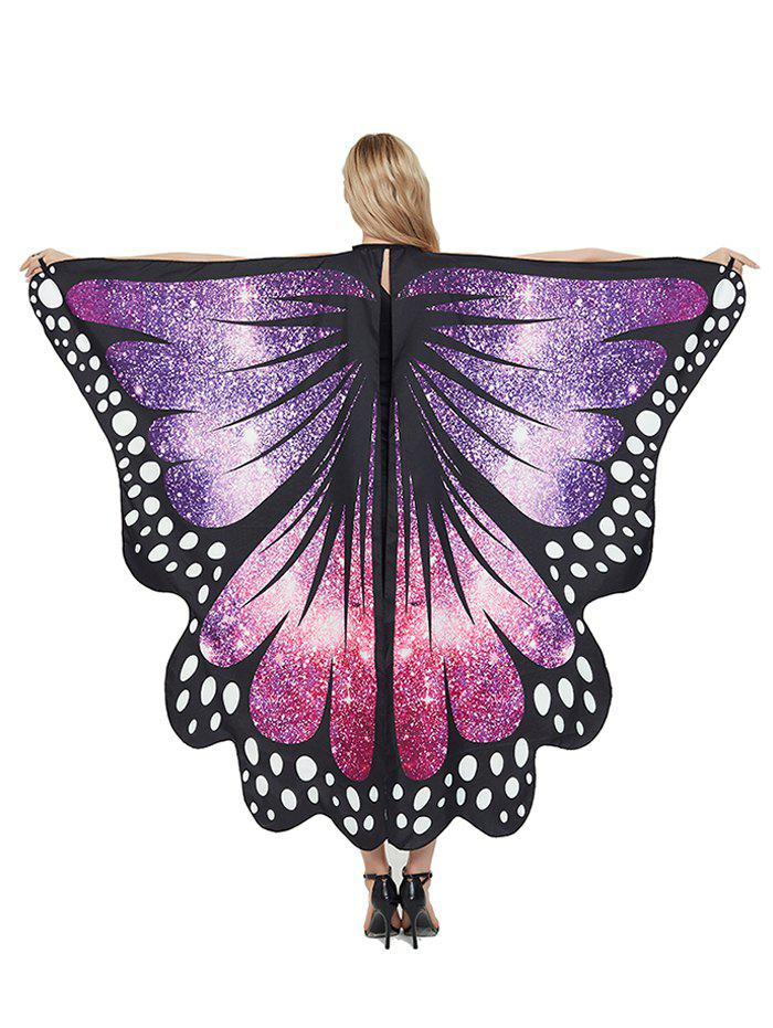 Party Cosplay Butterfly Wing Pattern Decorative Cape - PURPLE 168*135CM
