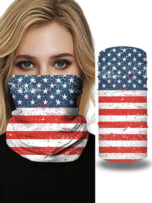 Outdoor Travel Flag Print Protective Mask Scarf - multicolor