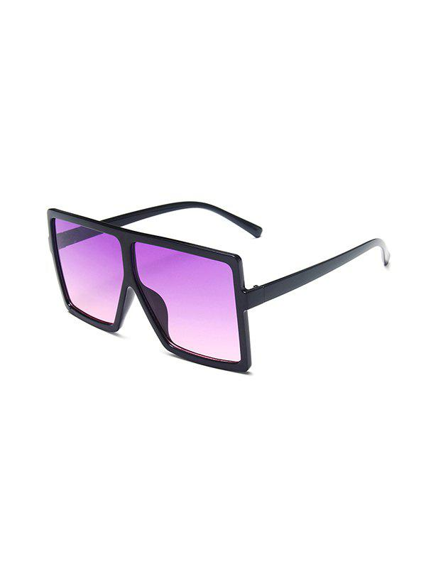 Retro Oversized Ombre Square Sunglasses - PURPLE