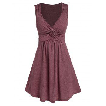 Front Knot Fit And Flare Dress