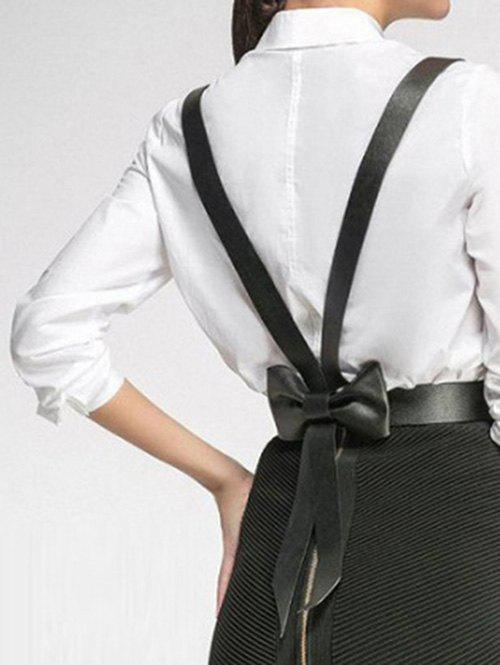 Back Bowknot Decoration Belt Suspender - BLACK